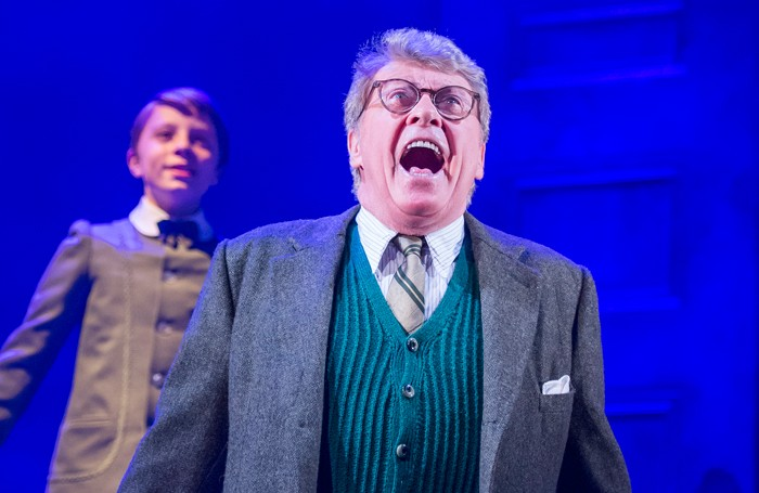 William Thompson and Michael Crawford (front) in The Go-Between at the Apollo Theatre. Photo: Tristram Kenton