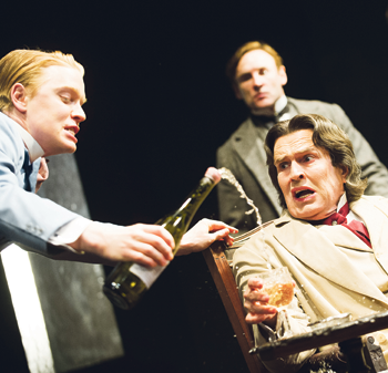 Freddie Fox in The Judas Kiss with Rupert Everett. Photo: Tristram Kenton