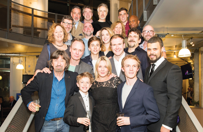 Director Trevor Nunn (front, left) with cast and crew. Photos: Trevor Aston