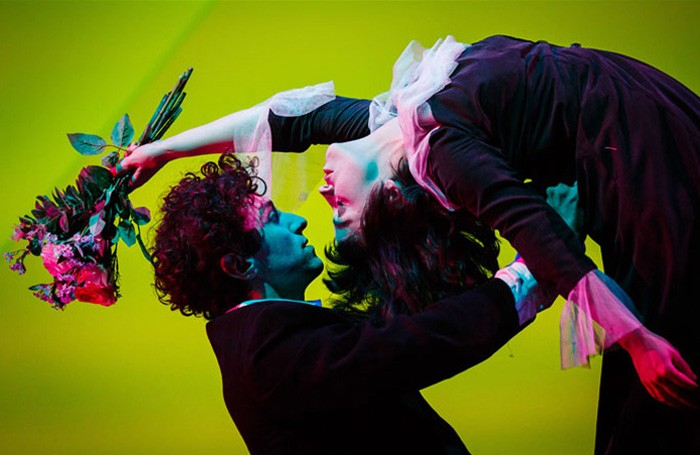 Marc Antolin and Audrey Brisson in Kneehigh's The Flying Lovers of Vitebsk at Bristol Old Vic. Photo: Steve Tanner