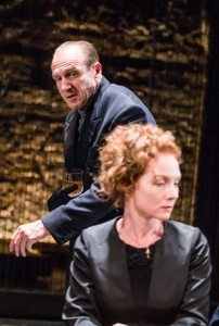 Ralph Fiennes and Aislin McGuckin in Richard III. Photo: Tristram Kenton