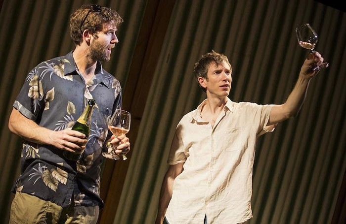 Simon Harrison and Daniel Weyman in Sideways at St James Theatre, London.