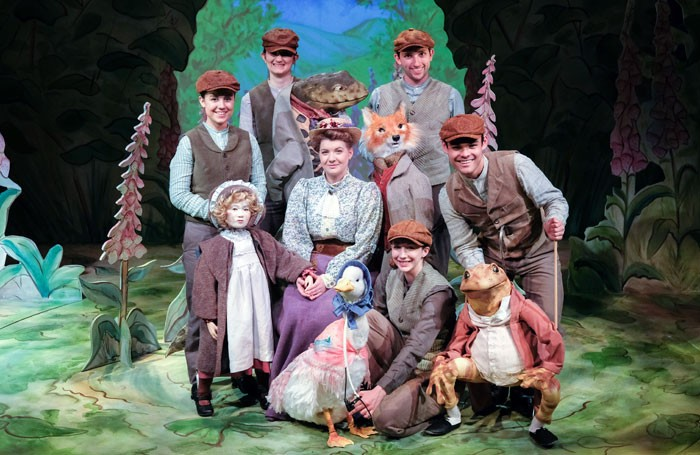 The cast of Where is Peter Rabbit? at the Old Laundry, Bowness-on-Windermere. Photo: Steven Barber