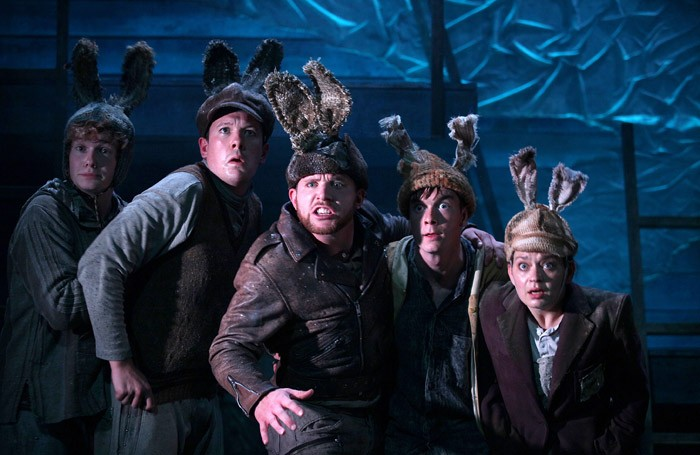 The cast of Watership Down at Watermill Theatre, Newbury. Photo: Philip Tull