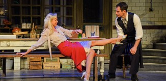 Helen George and Richard Flood in After Miss Julie. Photo: Nobby Clark
