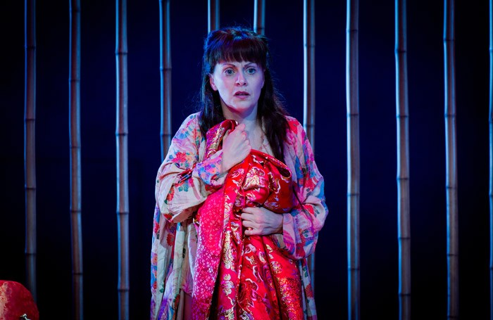 Anne Sophie Duprels in Iris at Opera Holland Park. Photo: Robert Workman