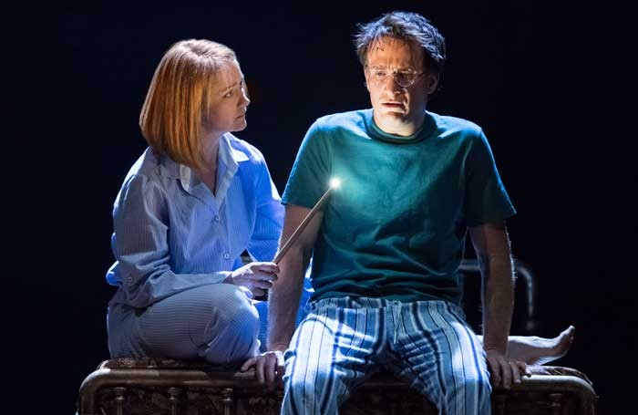 Poppy Miller and Jamie Parker in Harry Potter and the Cursed Child at the Palace Theatre, London. Photo: Manuel Harlan