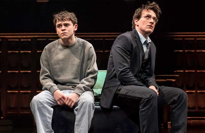 Sam Clemmett and Jamie Parker in Harry Potter and the Cursed Child at the Palace Theatre. Photo: Manuel Harlan