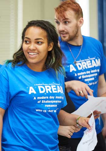 Participants in Sheffield's A Dream. Photo: Mark Douet