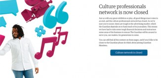 Guardian cultural professionals network has closed. Photo: The Guardian