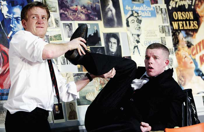 Jamie Parker with Russell Tovey in The HIstory Boys at the National in 2004. Photo:  Tristram Kenton