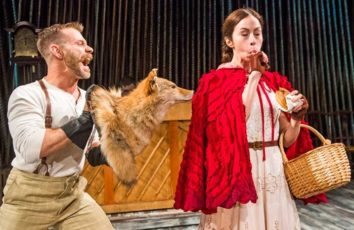 Noah Brody and Emily Young in Into The Woods at the Menier Chocolate Factory. Photo: Tristram Kenton