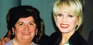 Jill Tookey with Joanna Lumley