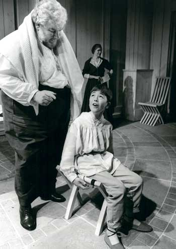 Richard Griffiths and Peter England (above) in Brecht's Life of Galileo, directed by Kent in 1994. Photo: Tristram Kenton