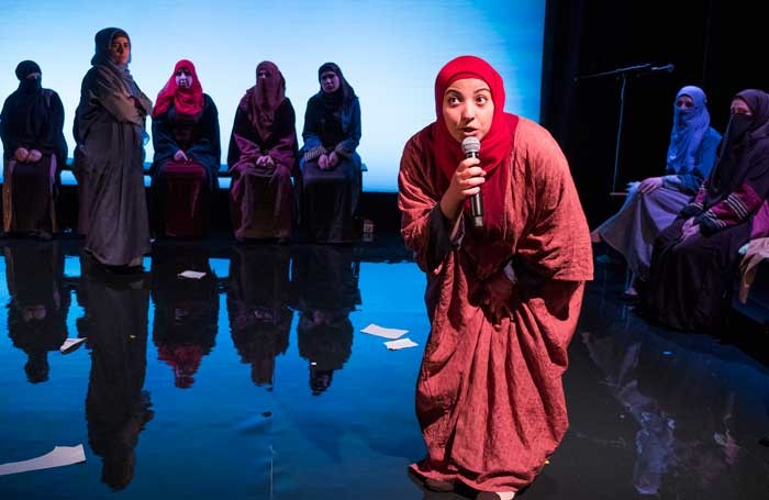 A scene form Queens of Syria at the Young Vic. Photo: Tristram Kenton