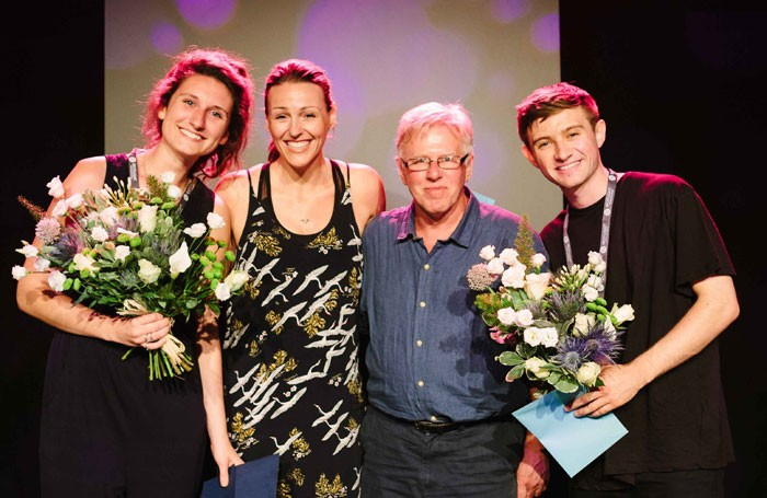 Spotlight prize winners with judges Suranne Jones and Phil Davis. Photo: Jamie Drew