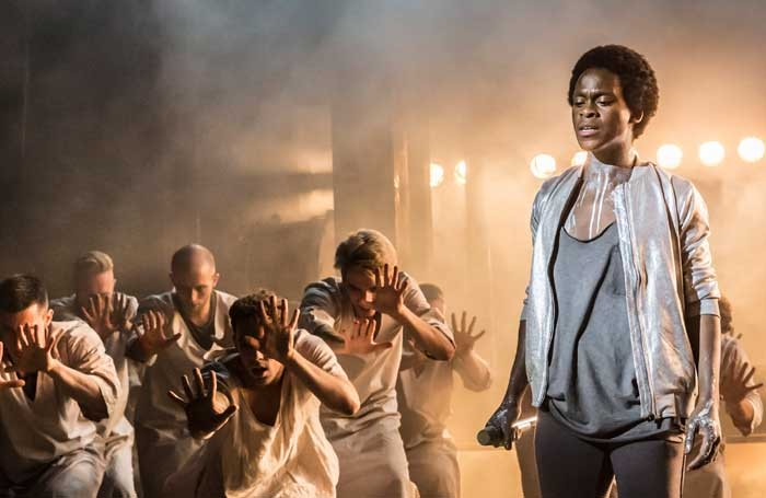 Tyrone Huntley as Judas in Jesus Christ Superstar. Photo Johan Persson.