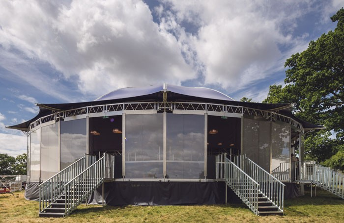 The entrance to the Mix at the Wilderness Festival. Photo: Simon Kennedy