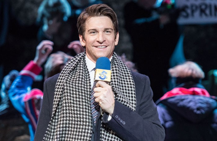 Andy Karl in Groundhog Day at the Old Vic. Photo: Manuel Harlan