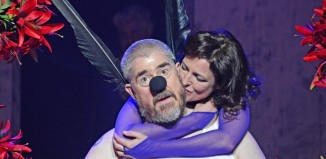 Phill Jupitus and Katy Stephens in A Midsummer Night's Dream at Theatre Royal Bath. Photo: Nobby Clark