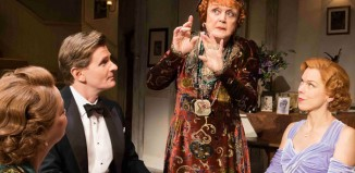 Angela Lansbury (centre) in Blithe Spirit. Photo: Johan Persson