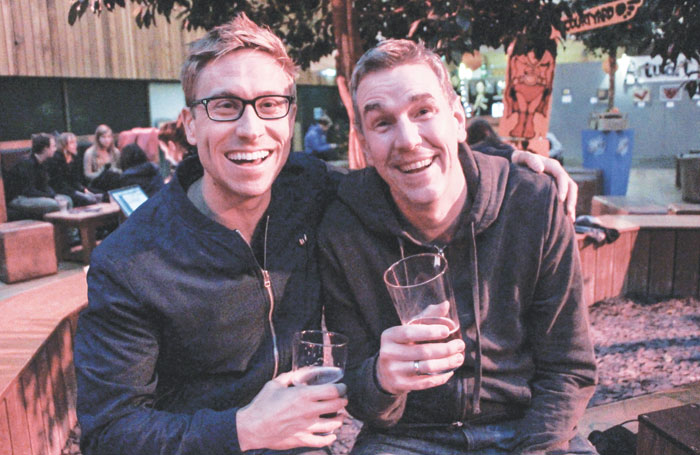 Comedians Russell Howard and Steve Williams. Photo: Heather Pasfield
