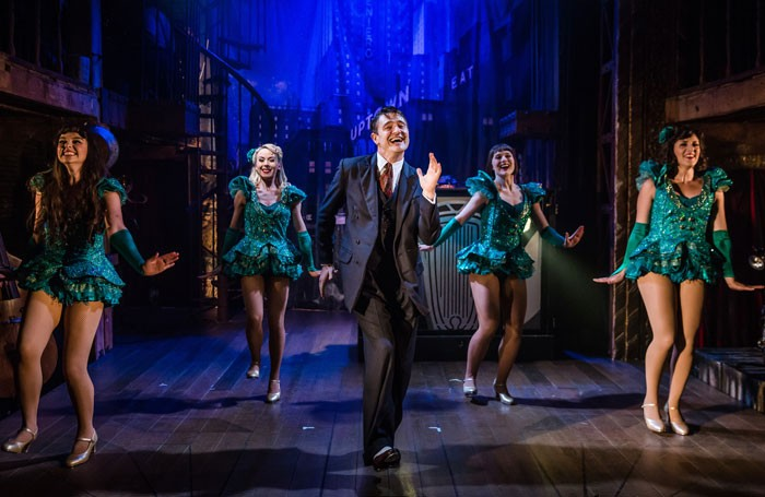 Seren Sandham-Davies, Katrina Kleve, Tom Chambers, Anne White and Hollie Cassar in Crazy for You at the Watermill Theatre, Newbury. Photo: Richard Davenport
