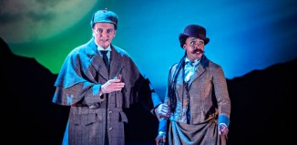 David Leonard and Elexi Walker in Sherlock Holmes: The Hound of the Baskervilles at the Theatre Royal York. Photo: Anthony Robling