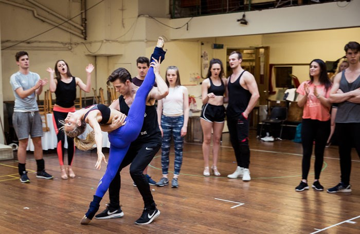 Rehearsals for Dirty Dancing. Photo: Michael Wharley
