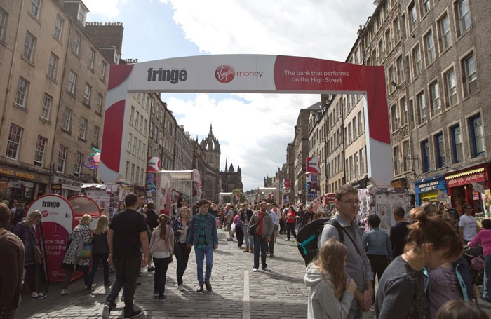 Tickets sold at the Edinburgh Fringe 2016 marked a 7.7% increase on 2015