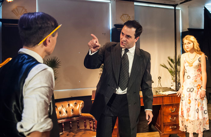 Lewis Rae, Simon Victor and Hero Douglas in The Last Tycoon at Above the Arts, London. Photo: Lidia Crisafulli