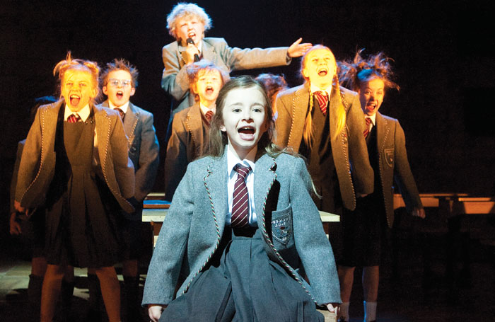 Kerry Ingram leads the cast of the RSC's Matilda the Musical at London's Cambridge Theatre in 2011
