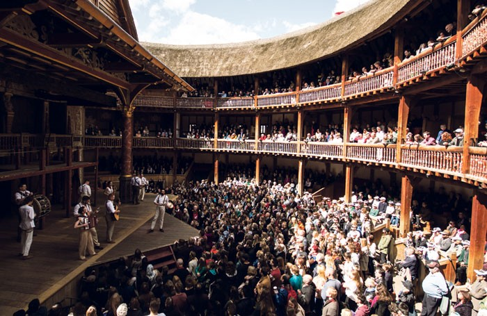 At Shakespeare's Globe audiences can experience what it might have been like to be a groundling at an Elizabethan theatre. Photo: Helen Miscioscia