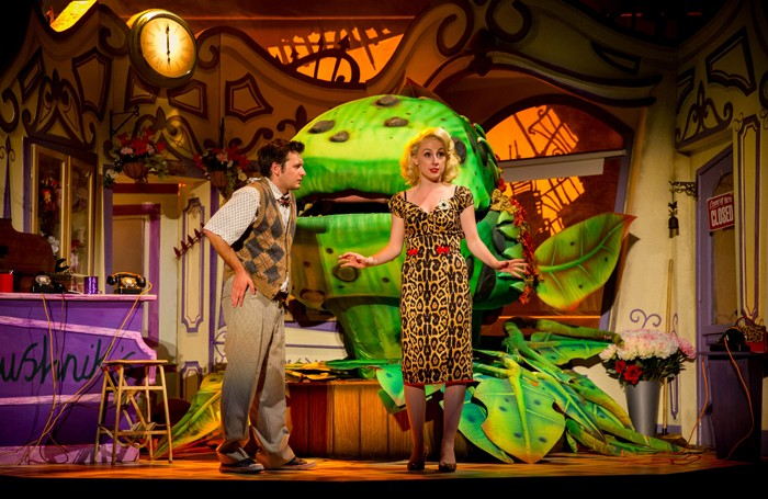 Sam Lupton and Stephanie Clift in Little Shop of Horrors. Photos: Matt Martin