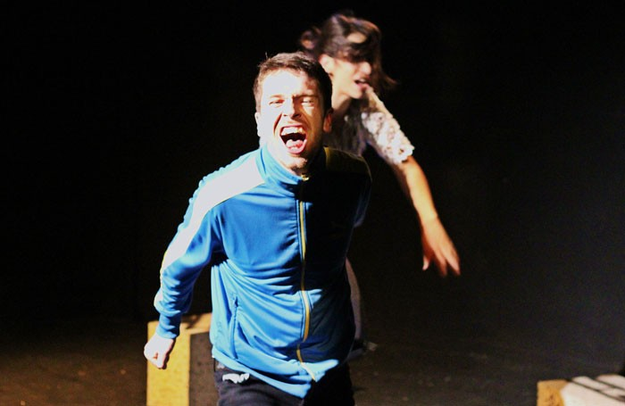 A scene from Yokes Night at the Pleasance Courtyard