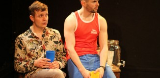 Finlay Bain and Paul Thirkell in Living a Little at New Town Theatre, Edinburgh