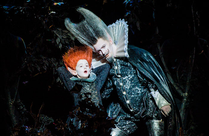 David Evans and Tim Mead in A Midsummer Night's Dream at the Glyndebourne Festival. Photo: Robert Workman