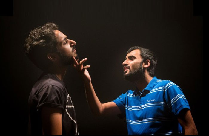 Akshay Sharan and Muhammad Khan in the NYT's The Reluctant Fundamentalist. Photo: Helen Murray