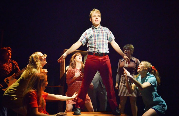 A scene from the Bardy Bunch, a new musical based on The Brady Bunch and The Partridge Family. Photo: Tom Henning
