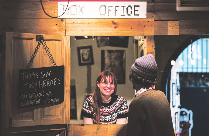 The box office at the Bike Shed. Photo: Matt Austin