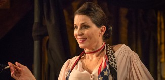 Sadie Frost in Britten in Brooklyn at Wilton's Music Hall, London. Photo: Marc Brenner