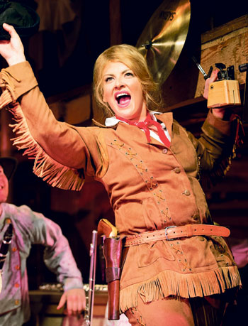 Jodie Prenger in Calamity Jane. Photo: Manuel Harlan