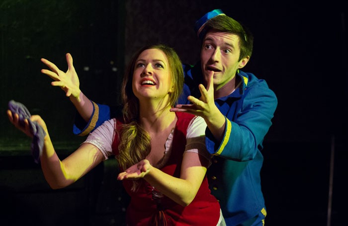 Helen Hart and Anthony Fagan in the Guildford Fringe Theatre Company's production of Cinders in 2013. Photo: Matt Pereira