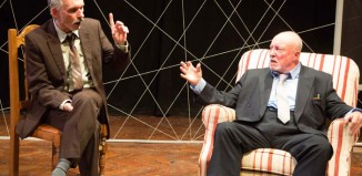 Anthony Taylor and Julian Bird in Danger: Memory! at Teatro Technis, London. Photo: Dean Osgood