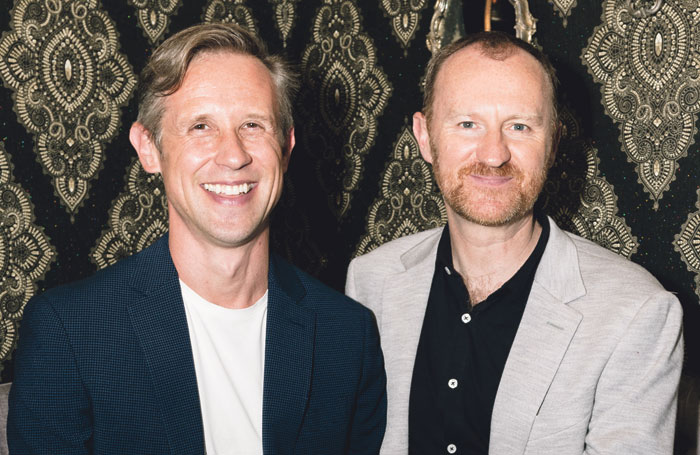 Gatiss with Ian Hellard, his husband and co-star in The Boys in the Band. Photo: Darren Bell