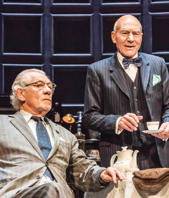 Ian McKellen and Patrick Stewart in No Man's Land, produced by Playful and now arriving in the West End after a UK tour. Photo: Johan Persson