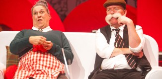 Joyce Falconer and Paul Riley in DC Thomson's The Broons at Perth Concert Hall. Photo: Tommy Ga-Ken Wan