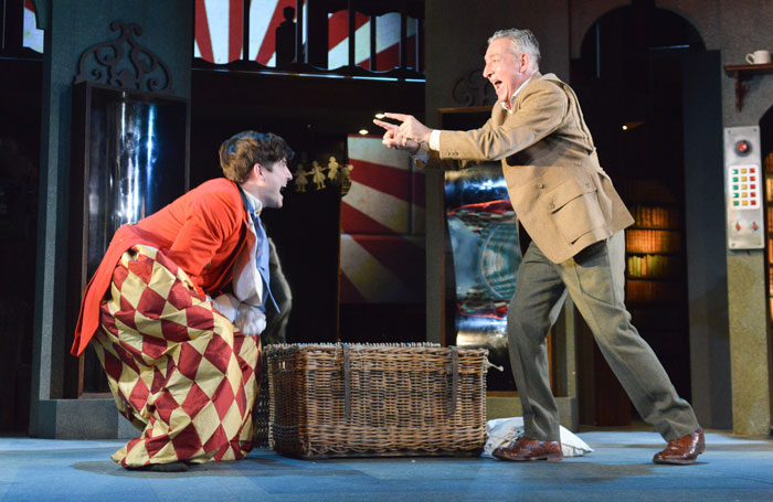 James Alexandrou and Miles Richardson in Sleuth at Nottingham Playhouse. Photo: Robert Day