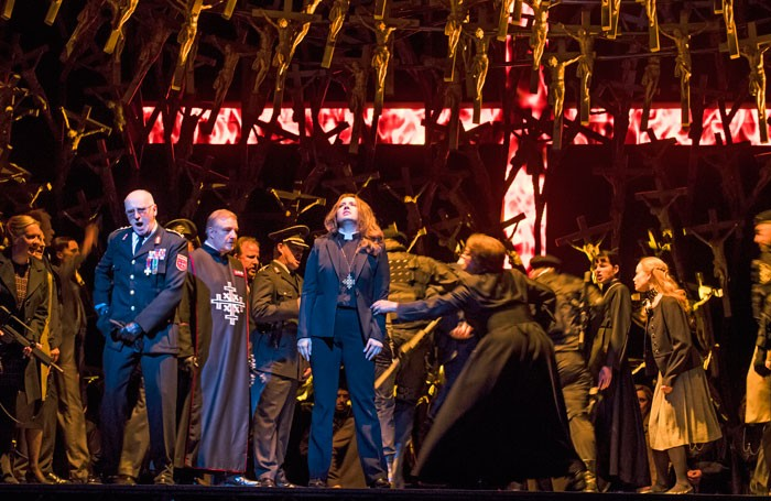 A scene from Norma at the Royal Opera House, London. Photo: Tristram Kenton