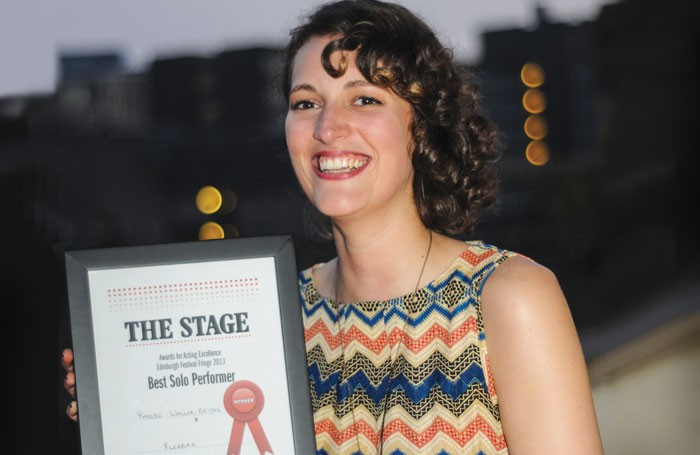 In 2013 Phoebe Waller-Bridge, won The Stage best solo performance award for Fleabag, which is now a BBC series. Photo: Stephanie Methven